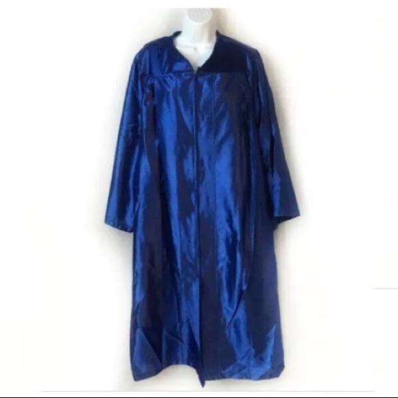 """Herff Other - Herff Jones Graduation Gown 5'7"""" 5'8"""" Blue Zip"""